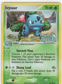 Pokemon Crystal Guardians Single Ivysaur 35/100