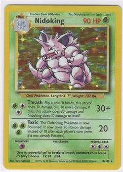 Pokemon Base Set 1 Single Nidoking 11/102 - NEAR MINT (NM)