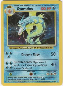 Pokemon Base Set 1 Single Gyarados 6/102 - NEAR MINT (NM)