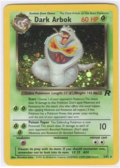 Pokemon Team Rocket 1st Edition Single Dark Arbok 2/82