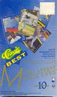 1993 Classic Best Minor League Gold Baseball Hobby Box