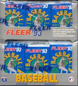 1993 Fleer Series 1 Baseball Prepriced Box