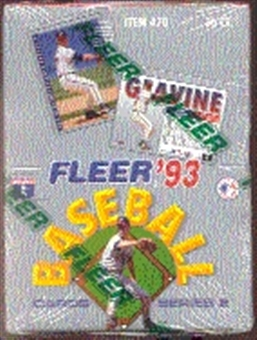 1993 Fleer Series 2 Baseball Hobby Box