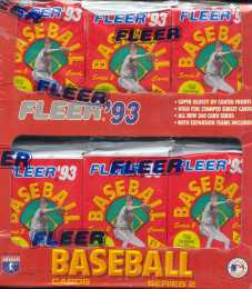1993 Fleer Series 2 Baseball Jumbo Box