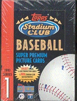 1993 Topps Stadium Club Series 1 Baseball Hobby Box