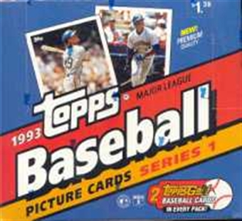 1993 Topps Series 1 Baseball Jumbo Box