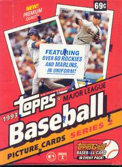 1993 Topps Series 2 Baseball Hobby Box