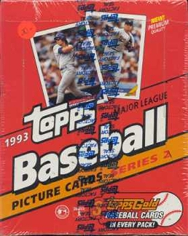 1993 Topps Series 2 Baseball Rack Box