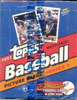 1993 Topps Series 1 Baseball Rack Box (Jeter Rc.)