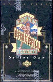 1993 Upper Deck Series 1 Baseball Hobby Box