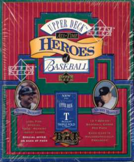 1993 Upper Deck All-Time Heroes of Baseball Baseball Hobby Box
