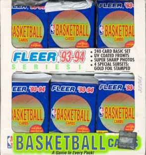 1993/94 Fleer Series 1 Basketball Jumbo Box