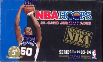 1993/94 Hoops Series 1 Basketball Jumbo Box