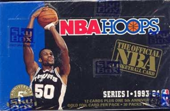 1993/94 Hoops Series 1 Basketball Hobby Box