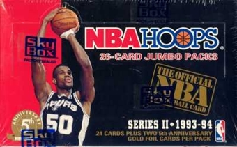 1993/94 Hoops Series 2 Basketball Jumbo Box