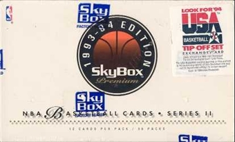 1993/94 Skybox Premium Series 2 Basketball Hobby Box