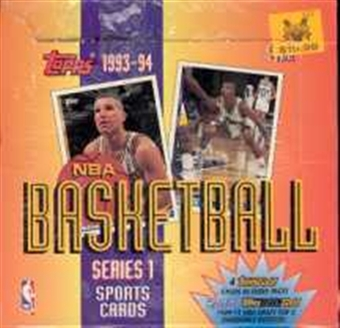 1993/94 Topps Series 1 Basketball Jumbo Box