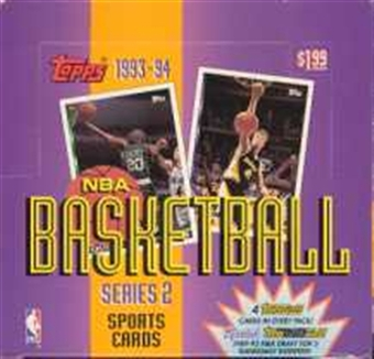 1993/94 Topps Series 2 Basketball Jumbo Box