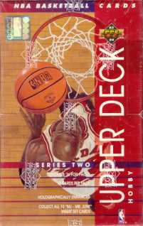 1993/94 Upper Deck Series 2 Basketball Hobby Box