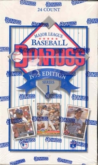 1993 Donruss Series 1 Baseball Jumbo Box