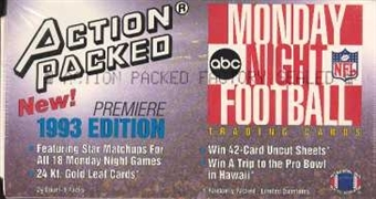 1993 Action Packed Monday Night Football Hobby Box