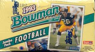 1993 Bowman Football Jumbo Box
