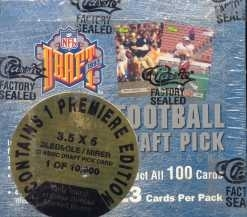 1993 Classic Draft Picks Football Jumbo Box
