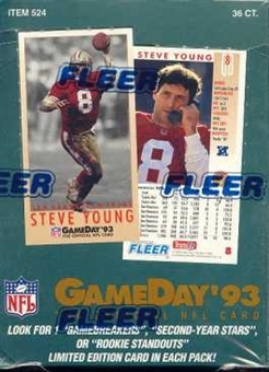 1993 Fleer Game Day Football Hobby Box