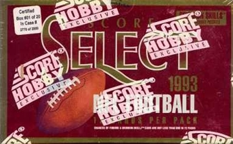 1993 Score Select Football Hobby Box
