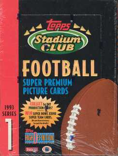 1993 Topps Stadium Club Series 1 Football Hobby Box