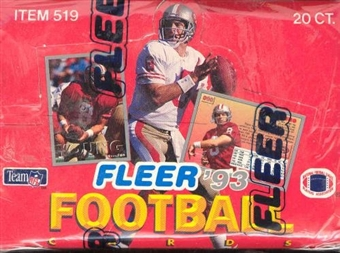 1993 Fleer Football Jumbo Box