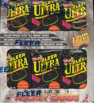 1993/94 Fleer Ultra Series 1 Hockey Jumbo Box