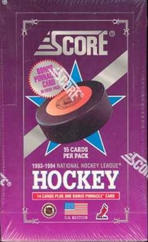 1993/94 Score U.S. Series 1 Hockey Hobby Box