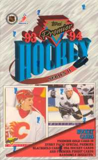 1993/94 Topps Premier Series 2 Hockey Hobby Box