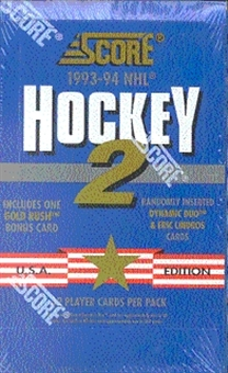 1993/94 Score U.S. Series 2 Hockey Hobby Box