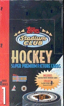 1993/94 Topps Stadium Club Series 1 Hockey Hobby Box