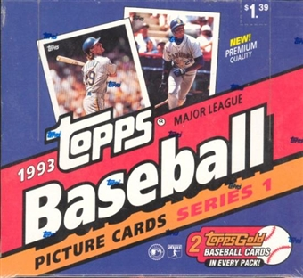 1993 Topps Series 1 Baseball Cello Box