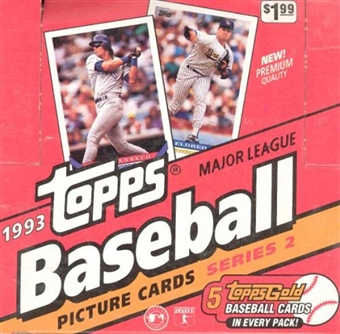 1993 Topps Series 2 Baseball Jumbo Box