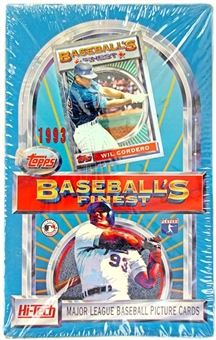 1993 Topps Finest Baseball Hobby Box