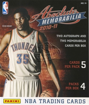 2010/11 Panini Absolute Memorabilia Basketball Hobby Box