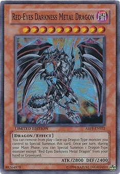 Yu-Gi-Oh Absolute Powerforce Single Red-Eyes Darkness Metal Dragon Super Rare - SLIGHT PLAY