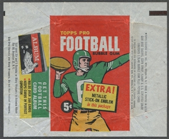 1960 Topps Football Wrapper (5 cents)