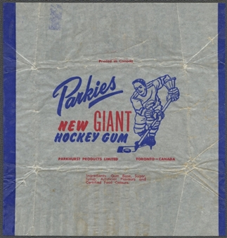1953/54 Parkhurst Hockey Wrapper