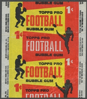1958 Topps Football Wrapper (1 cent)
