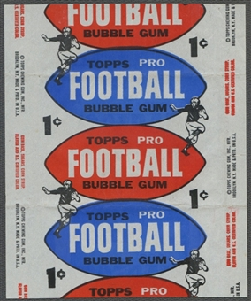 1957 Topps Football Wrapper (1 cent)