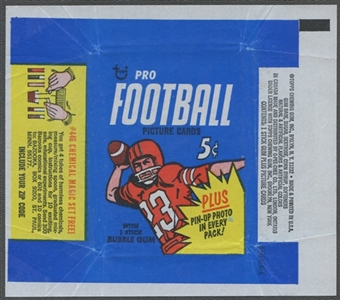 1968 Topps Football Wrapper (5 cents)