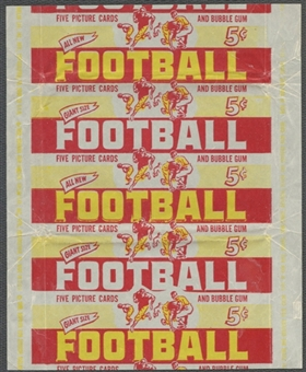 1952 Bowman Large Football Wrapper (5 cents)
