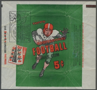 1956 Topps Football Wrapper (5 cents)