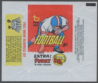 1966 Topps Football Wrapper