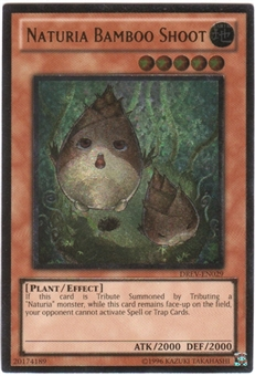 Yu-Gi-Oh Duelist Revolution Single Naturia Bamboo Shoot Ultimate Rare - SLIGHT PLAY (SP)